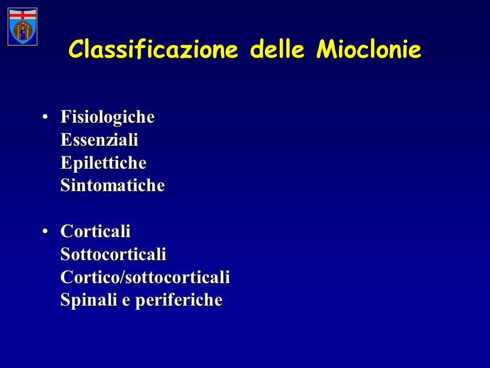 Classificazione delle Mioclonie