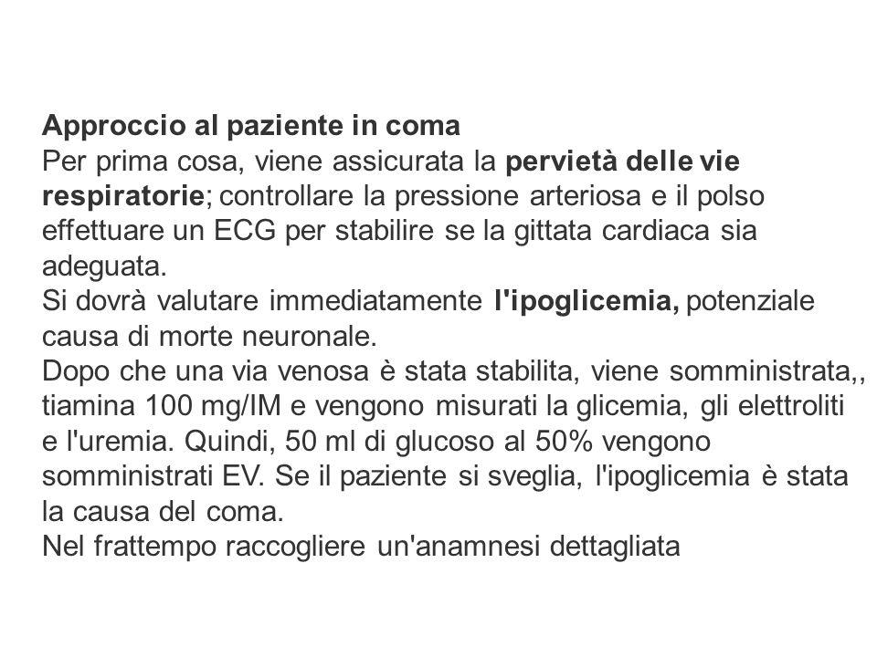 Approccio al paziente in coma