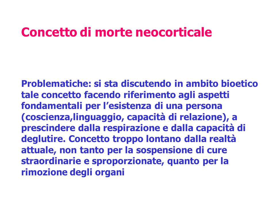 Concetto di morte neocorticale
