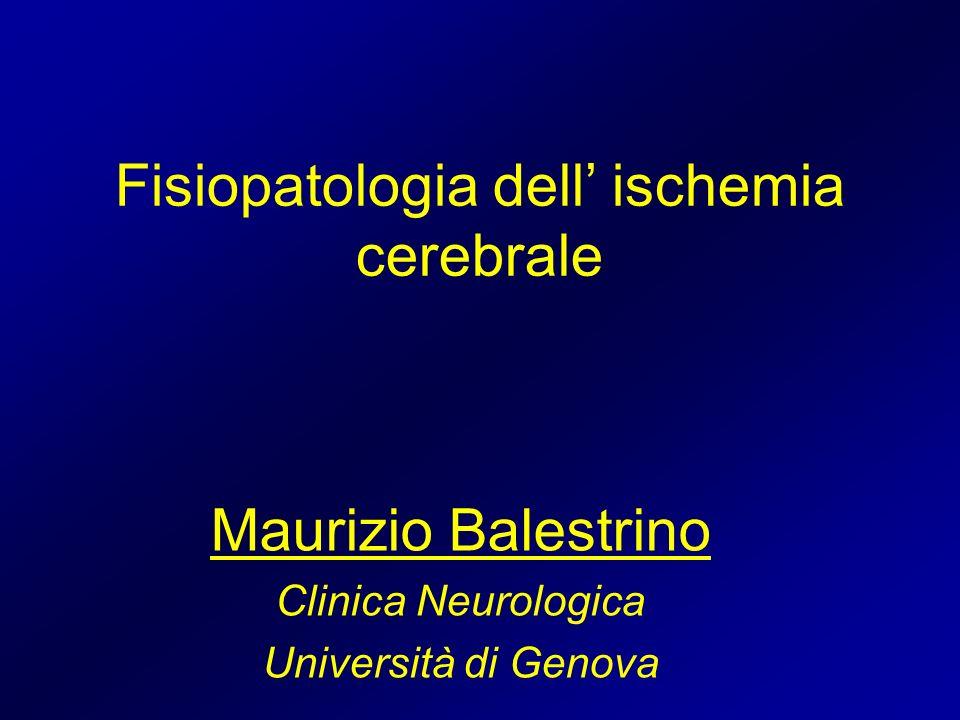 Fisiopatologia dell' ischemia cerebrale