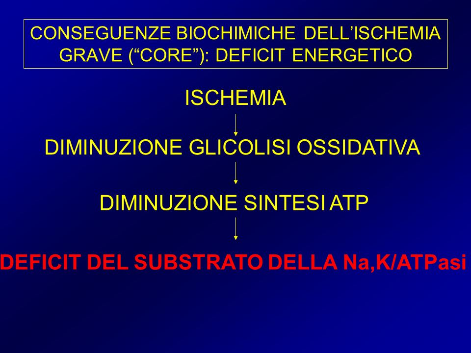 DIMINUZIONE GLICOLISI OSSIDATIVA