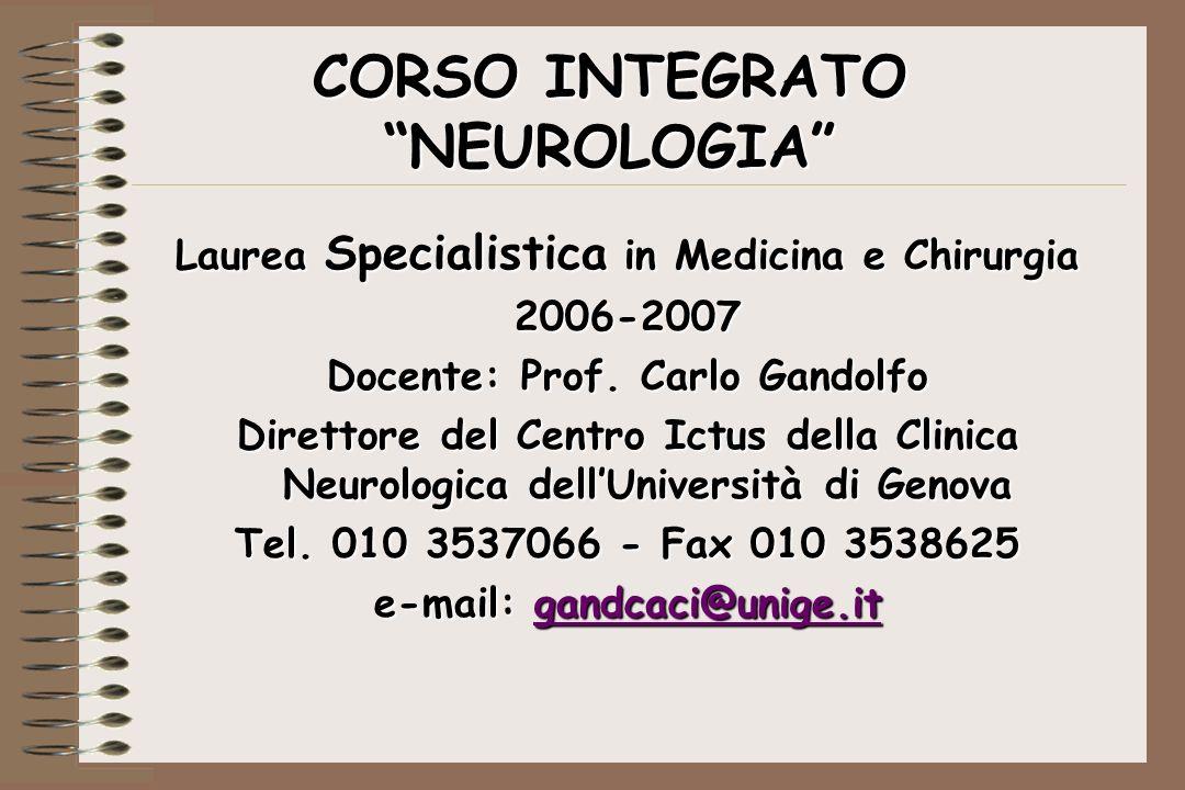 CORSO INTEGRATO NEUROLOGIA