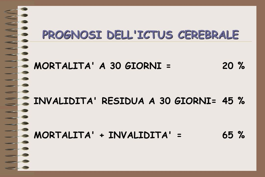 PROGNOSI DELL ICTUS CEREBRALE