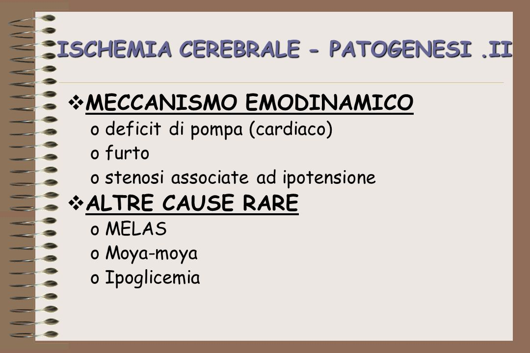 ISCHEMIA CEREBRALE - PATOGENESI .II