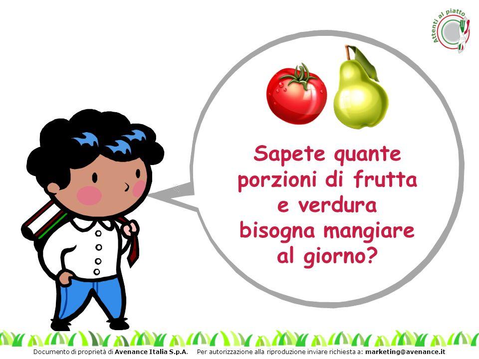 Sapete quante porzioni di frutta e verdura bisogna mangiare al giorno