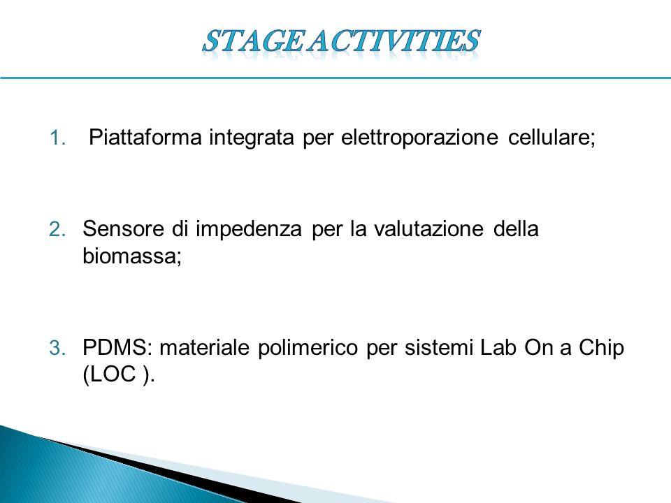 STAGE ACTIVITIES Piattaforma integrata per elettroporazione cellulare;