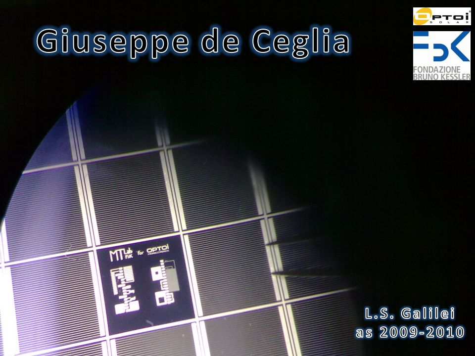 Giuseppe de Ceglia L.S. Galilei as 2009-2010