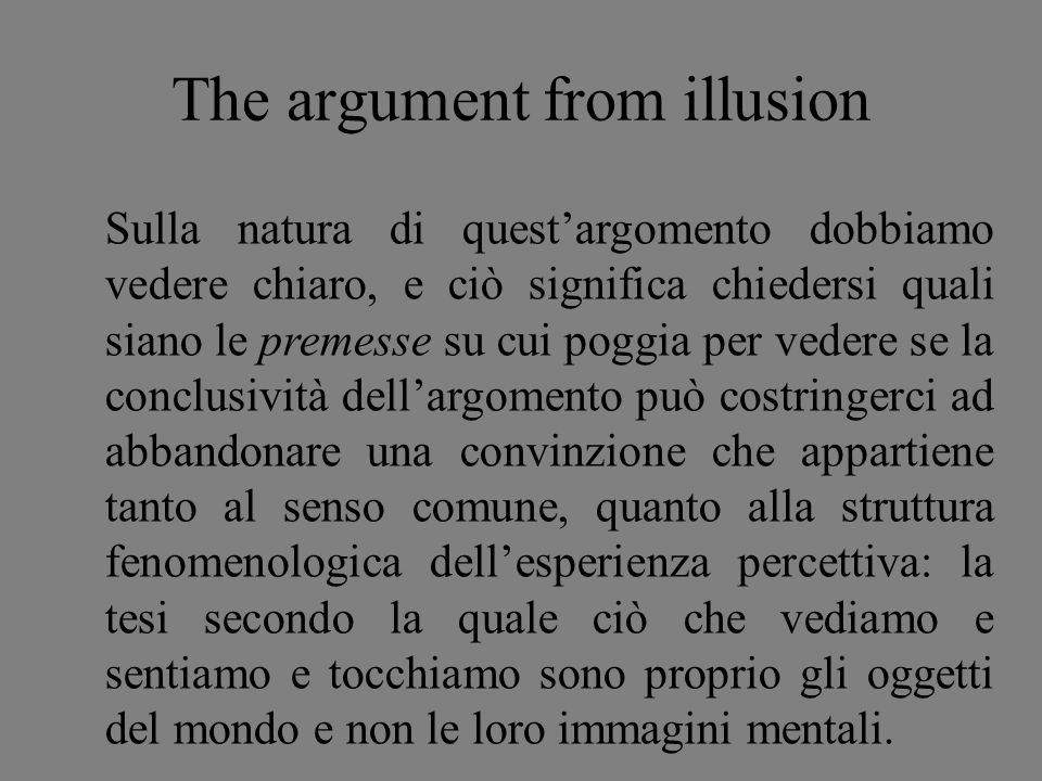 The argument from illusion