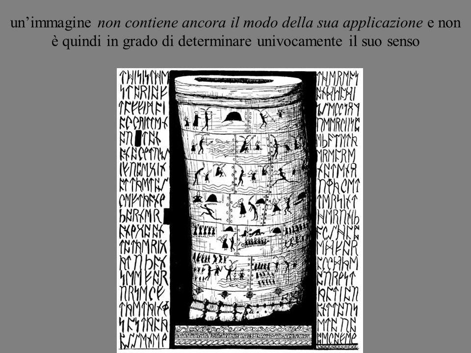 un'immagine non contiene ancora il modo della sua applicazione e non è quindi in grado di determinare univocamente il suo senso