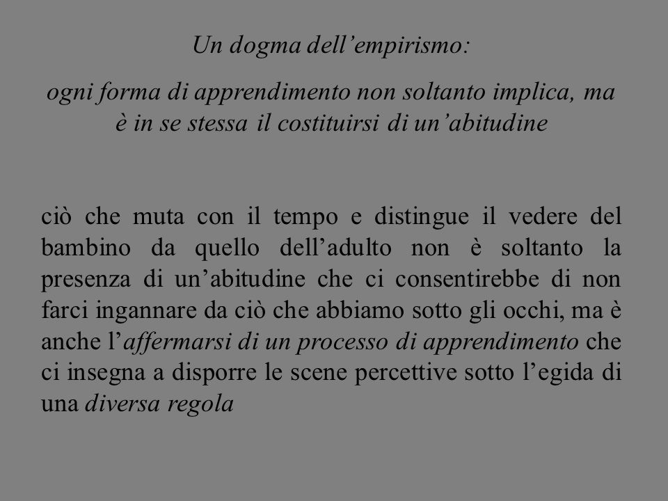 Un dogma dell'empirismo: