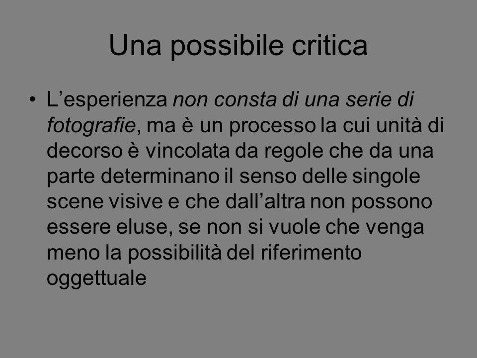 Una possibile critica