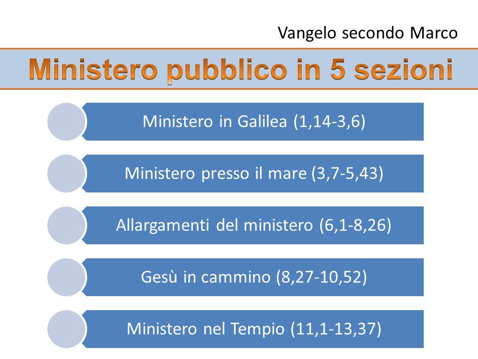Ministero pubblico in 5 sezioni