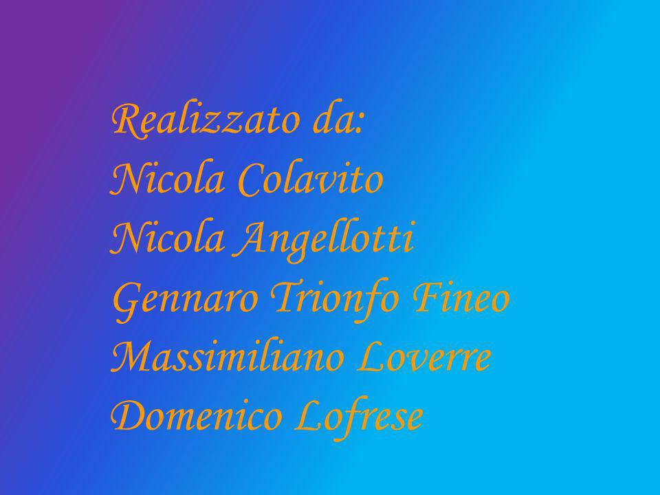 Realizzato da: Nicola Colavito. Nicola Angellotti.