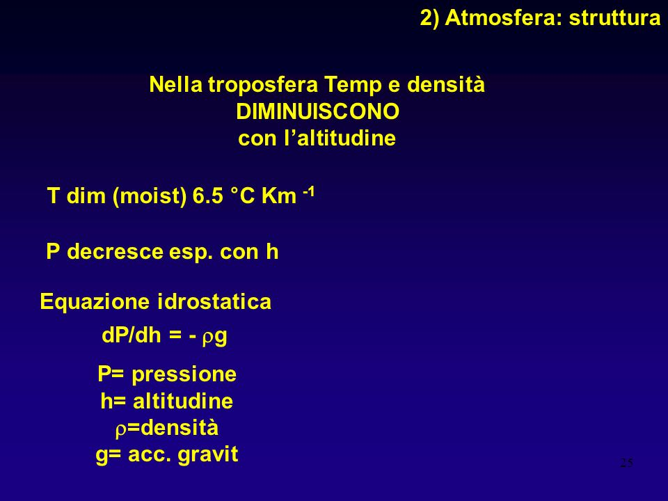 2) Atmosfera: struttura