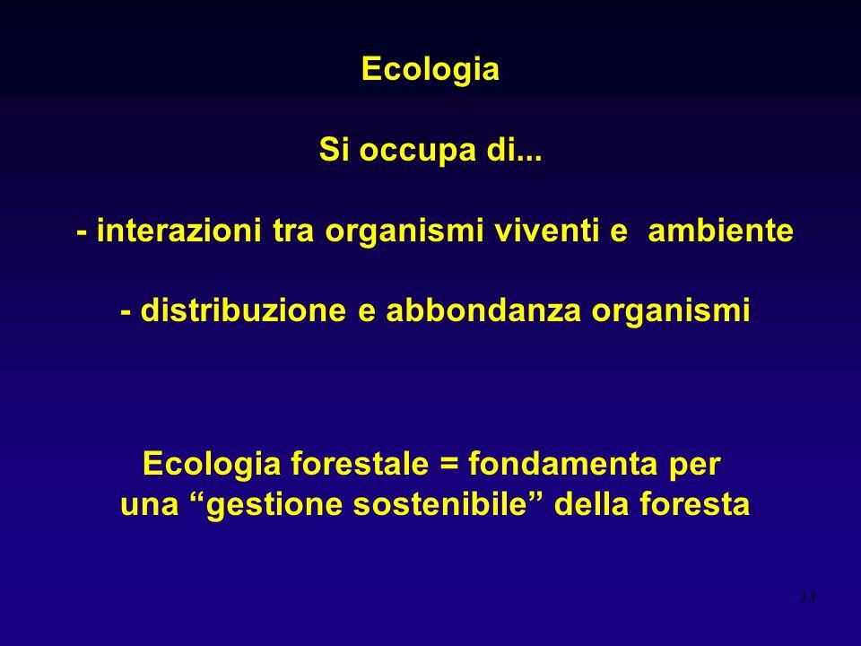 - interazioni tra organismi viventi e ambiente