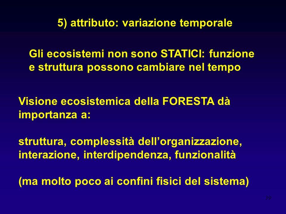 5) attributo: variazione temporale