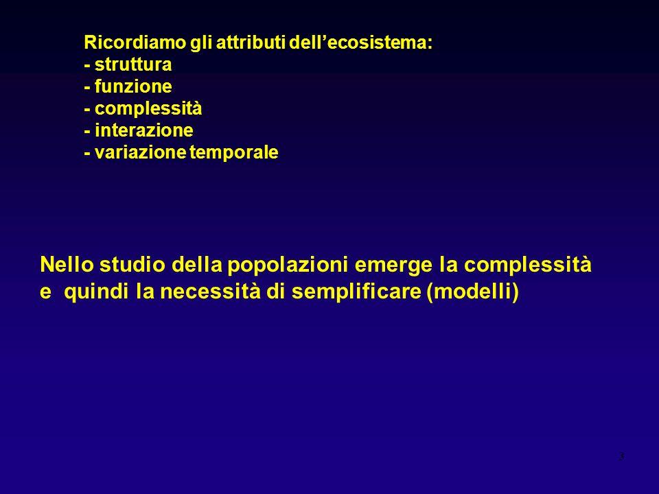 Nello studio della popolazioni emerge la complessità