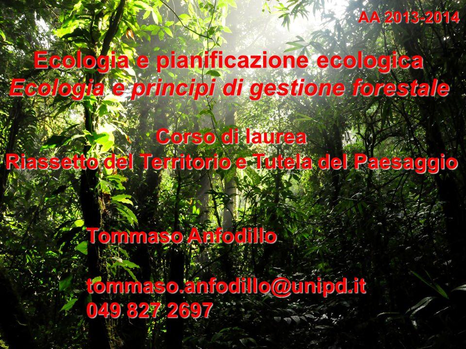 Ecologia e pianificazione ecologica
