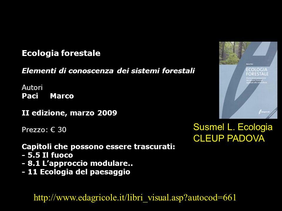 Susmel L. Ecologia CLEUP PADOVA
