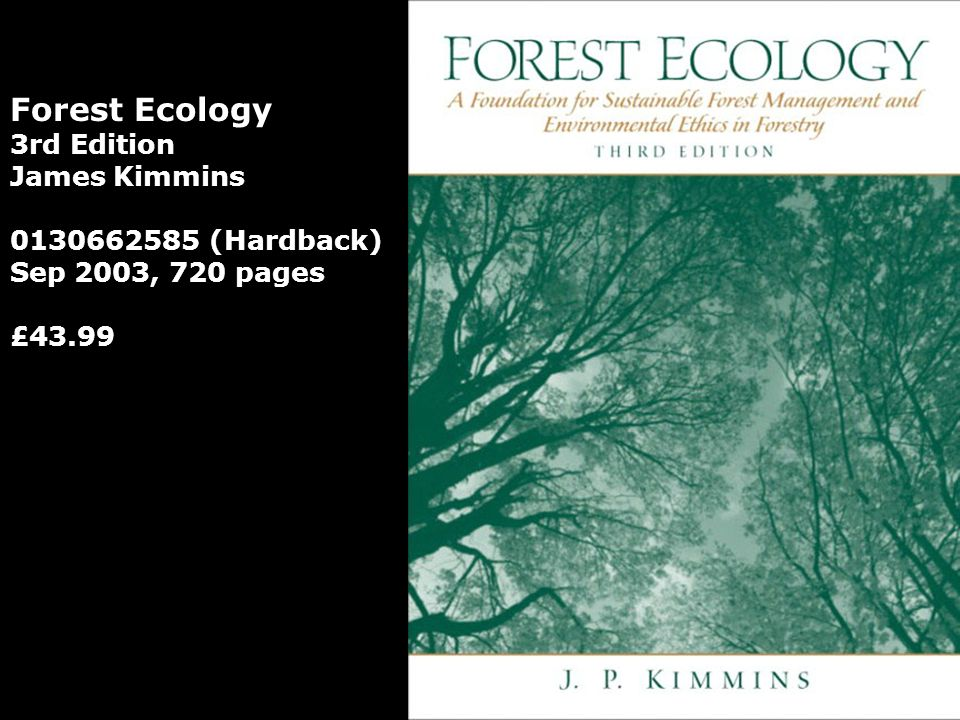 Forest Ecology 3rd Edition James Kimmins 0130662585 (Hardback)