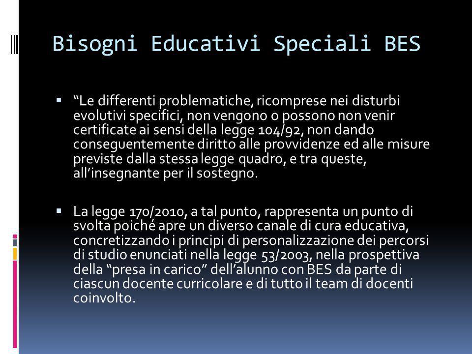 Bisogni Educativi Speciali BES