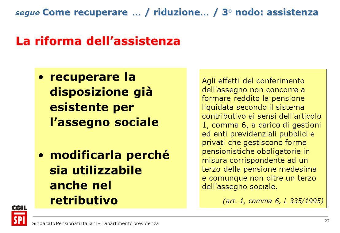 La riforma dell'assistenza