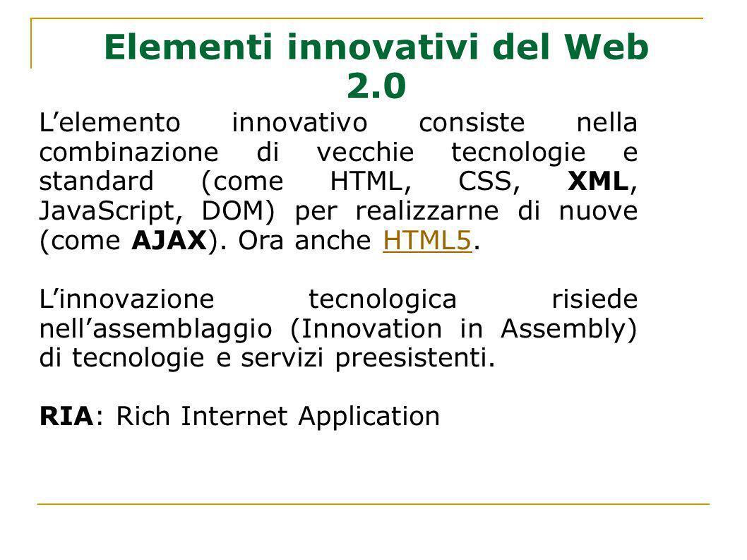 Elementi innovativi del Web 2.0