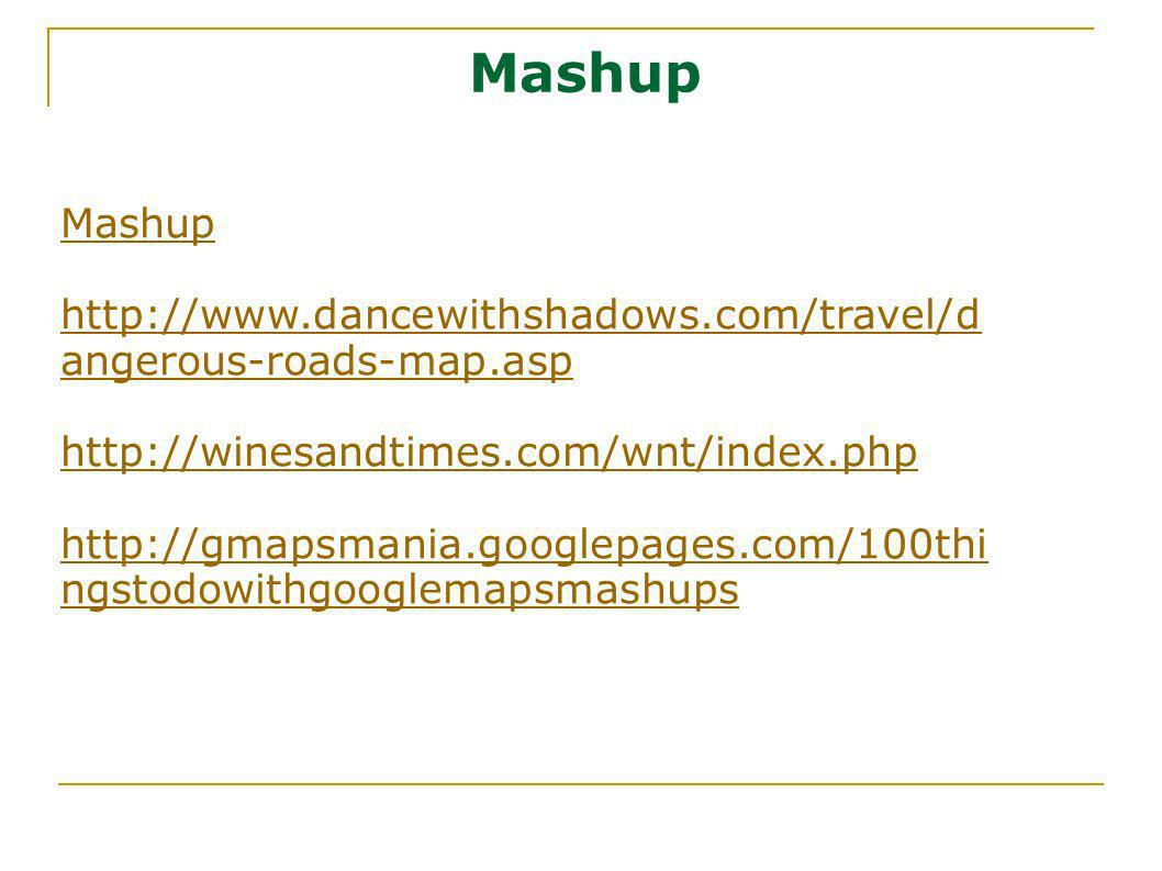 Mashup Mashup. http://www.dancewithshadows.com/travel/dangerous-roads-map.asp. http://winesandtimes.com/wnt/index.php.