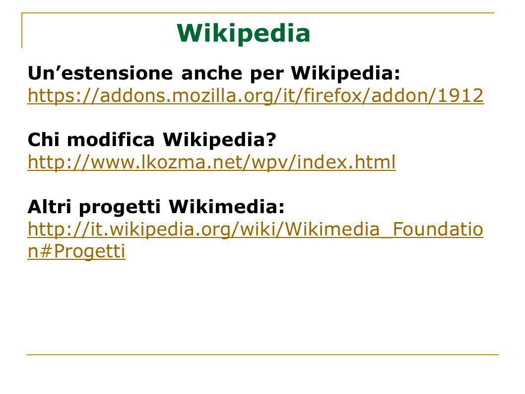 Wikipedia Un'estensione anche per Wikipedia: