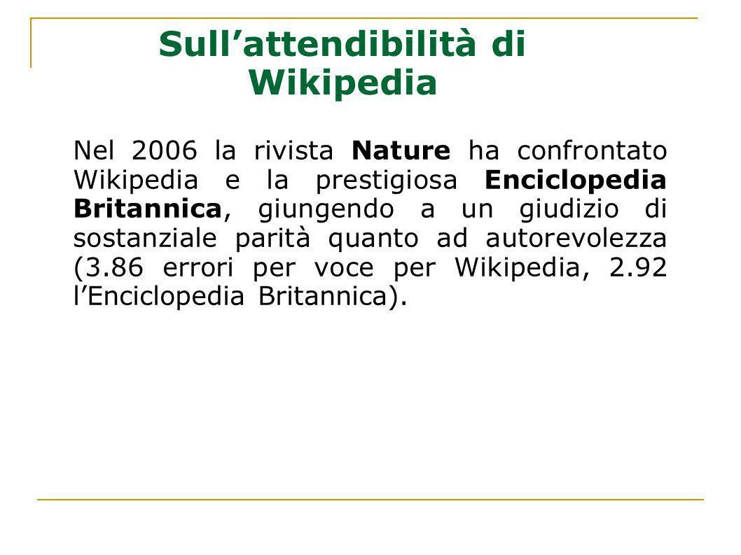 Sull'attendibilità di Wikipedia