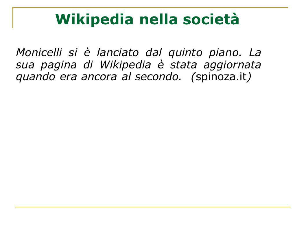Wikipedia nella società
