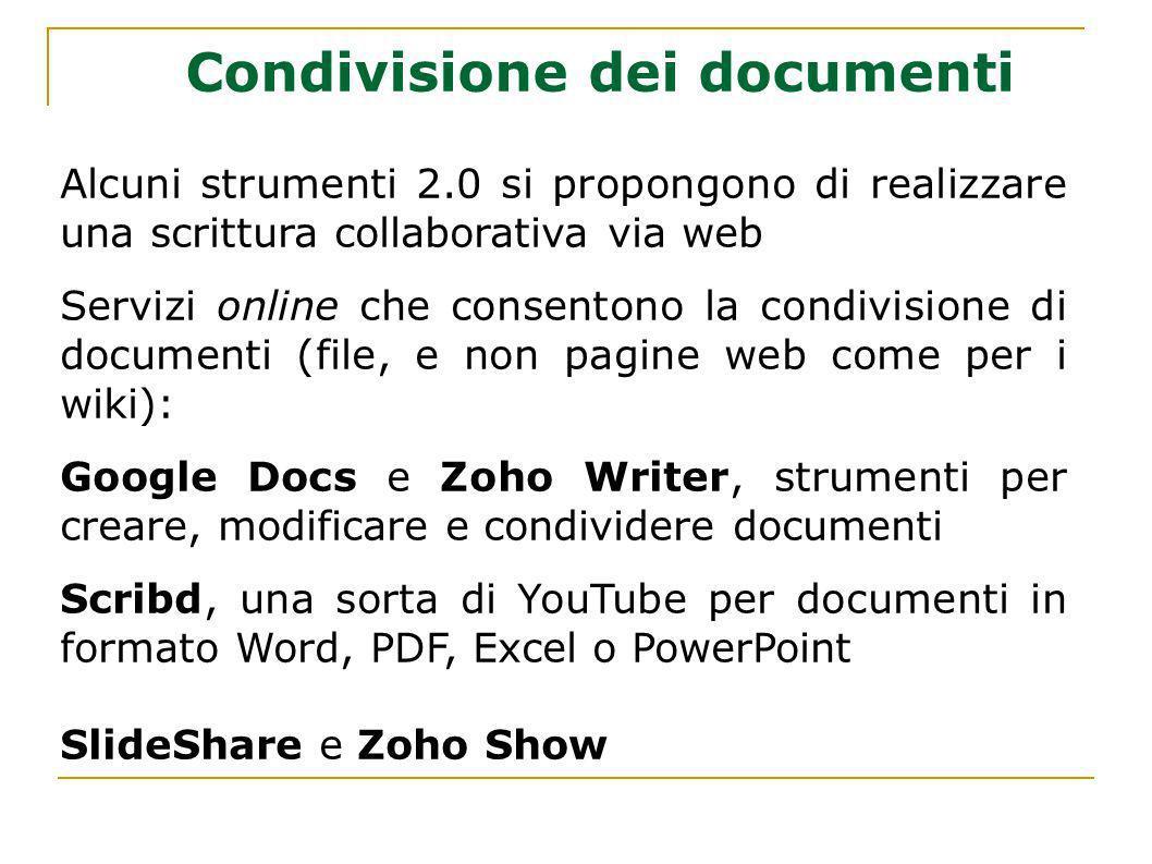 Condivisione dei documenti