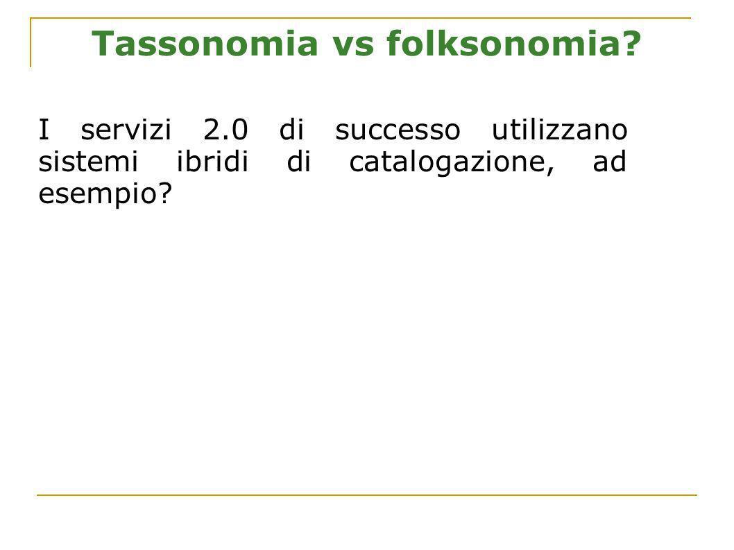 Tassonomia vs folksonomia