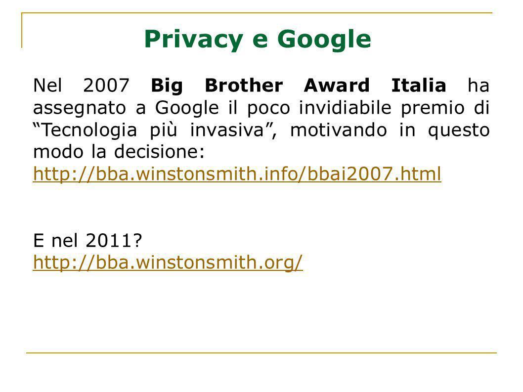Privacy e Google