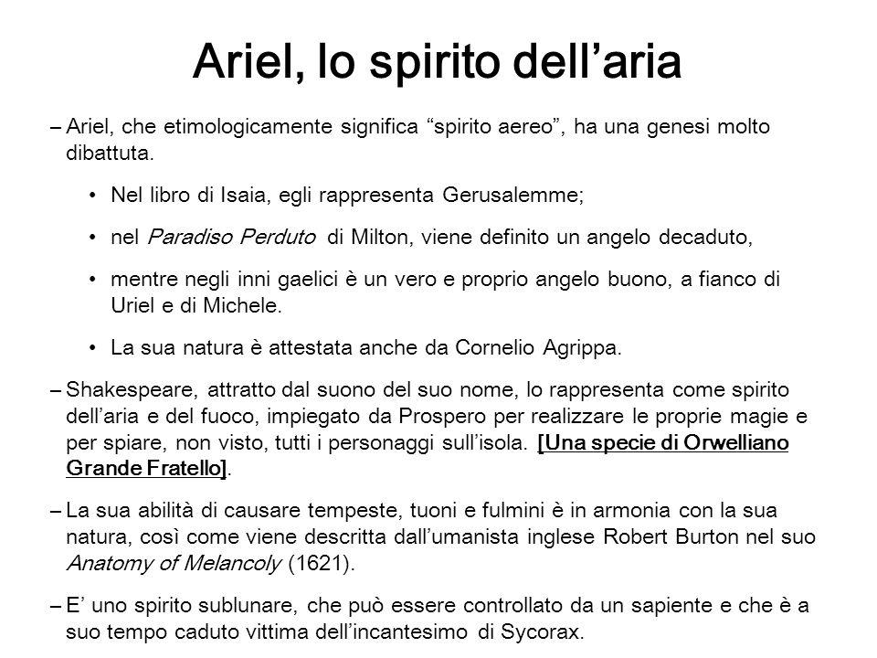 Ariel, lo spirito dell'aria