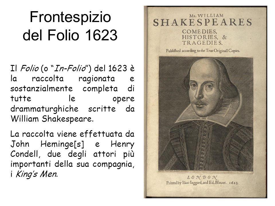 Frontespizio del Folio 1623
