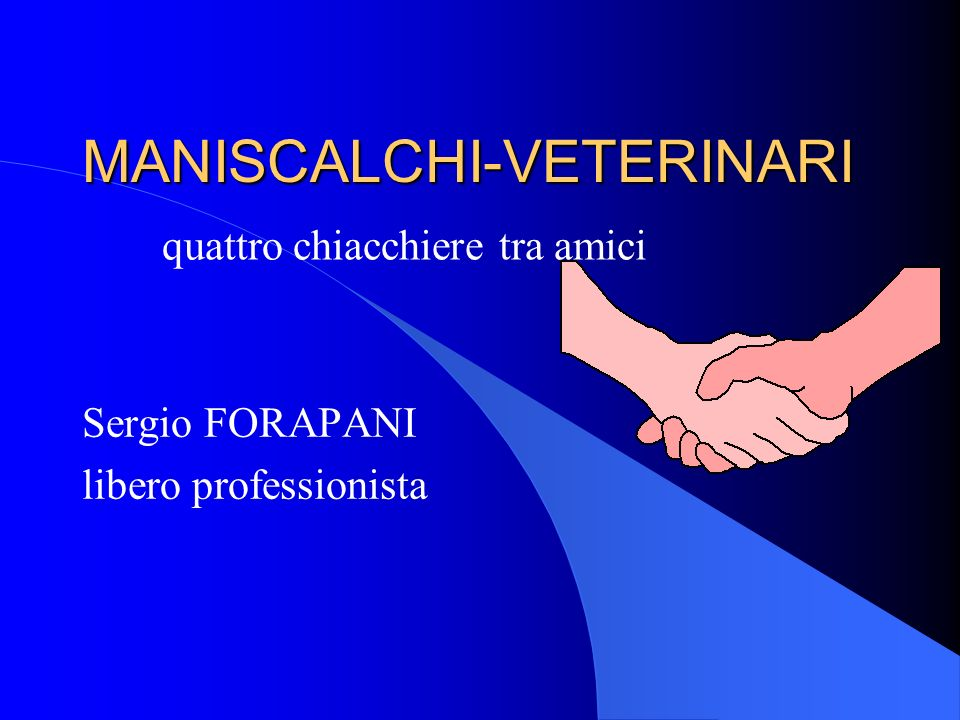 MANISCALCHI-VETERINARI