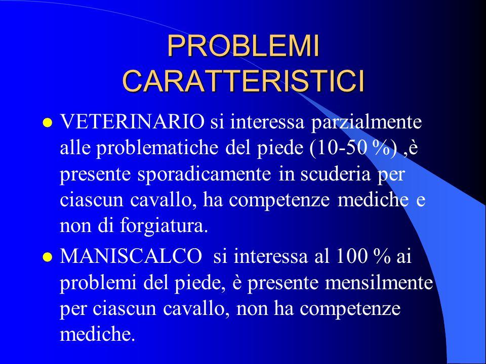 PROBLEMI CARATTERISTICI