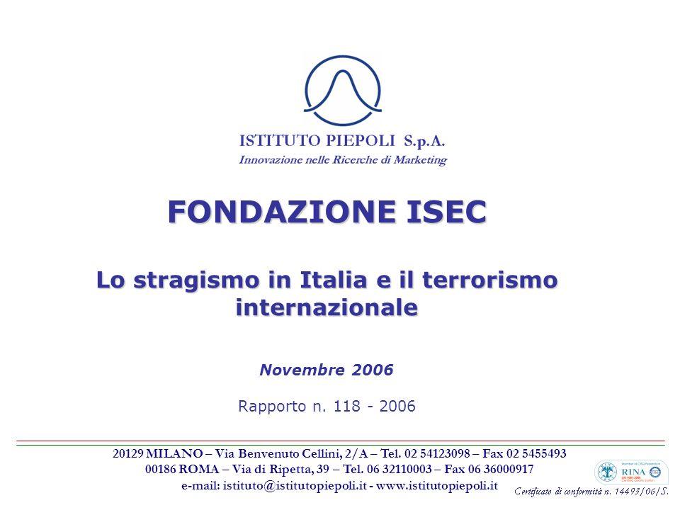 Lo stragismo in Italia e il terrorismo internazionale