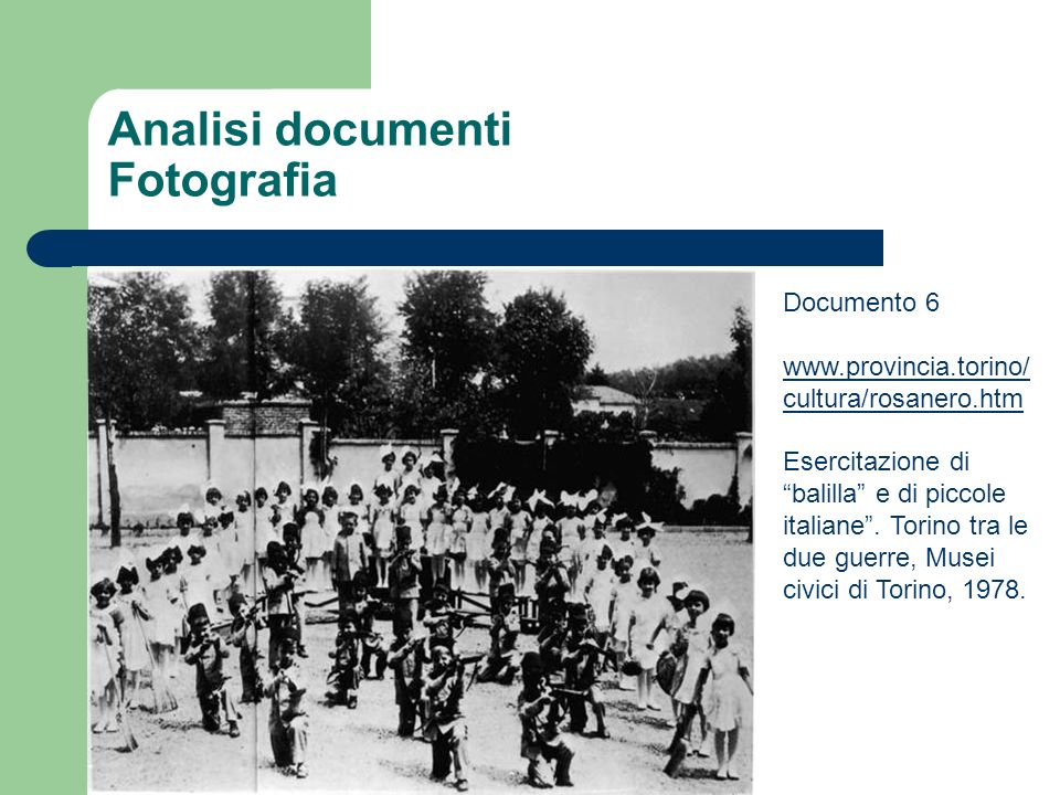Analisi documenti Fotografia