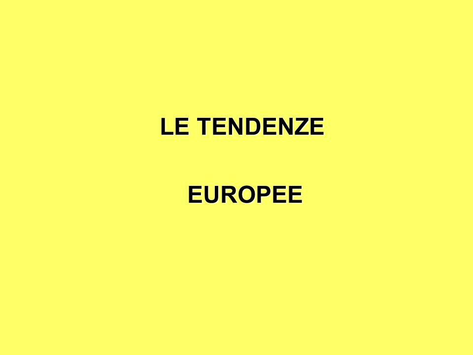 LE TENDENZE EUROPEE