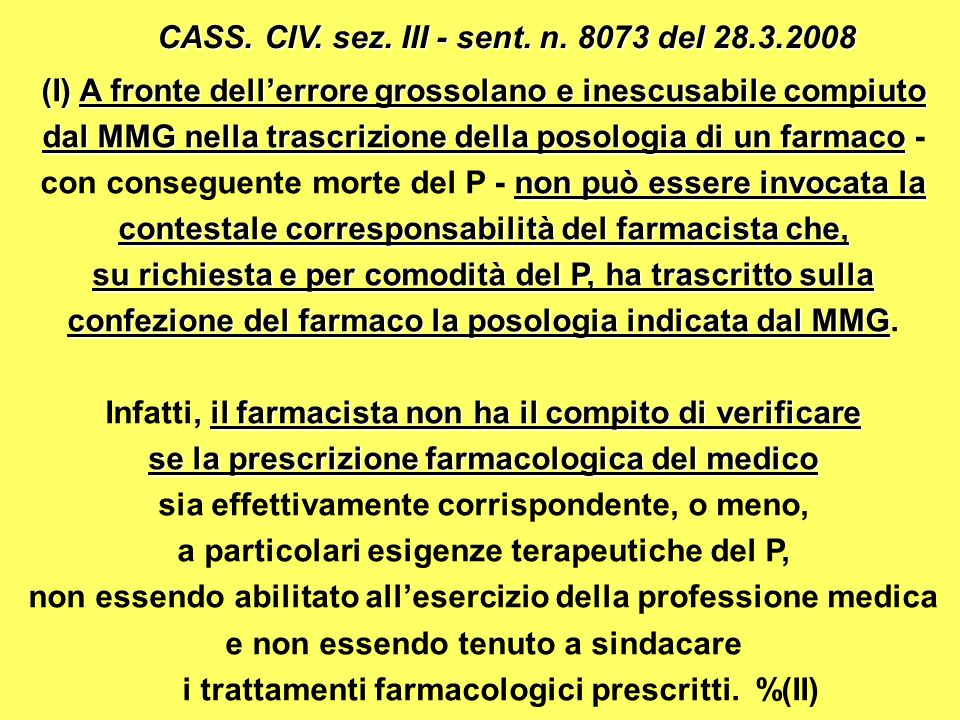 CASS. CIV. sez. III - sent. n. 8073 del 28.3.2008
