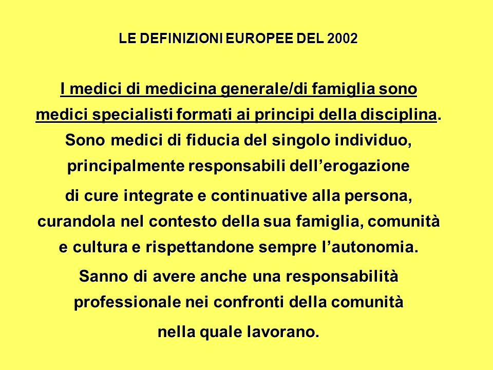 LE DEFINIZIONI EUROPEE DEL 2002