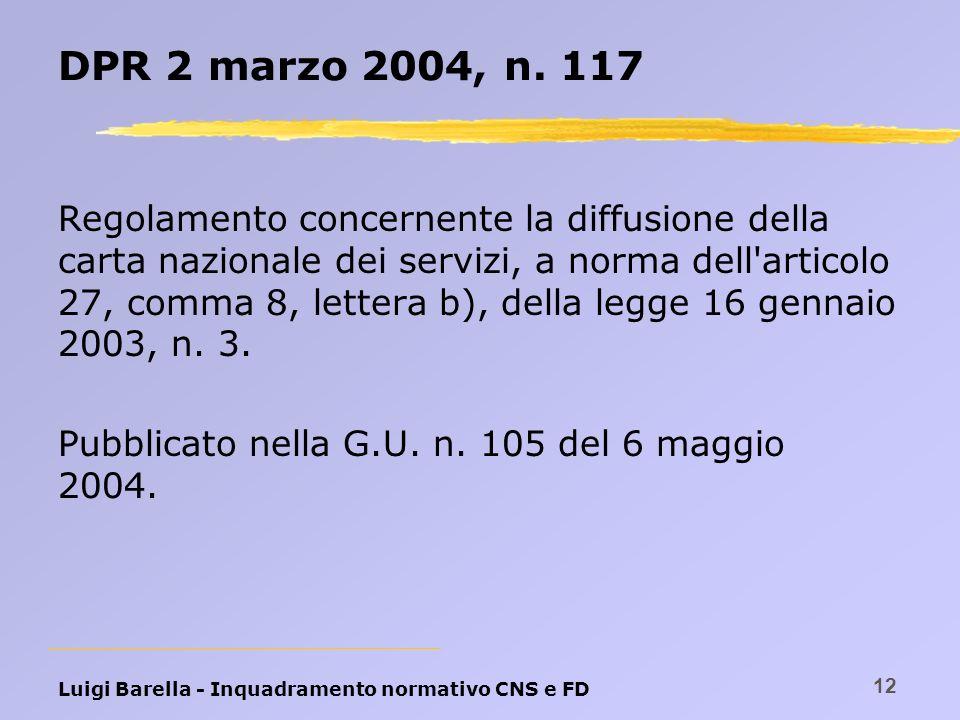 DPR 2 marzo 2004, n. 117