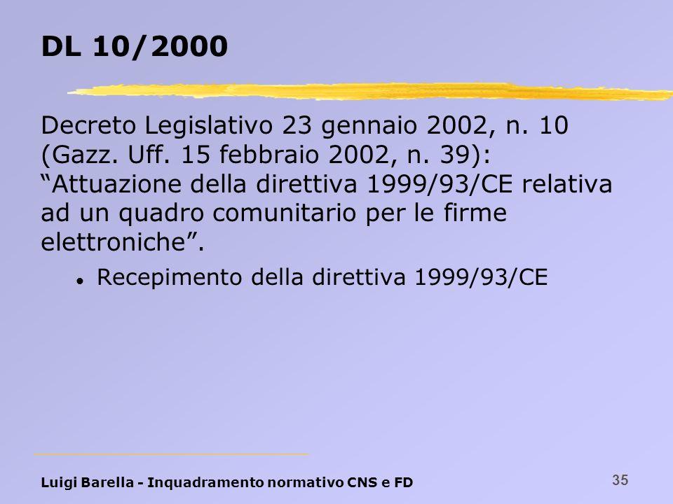 DL 10/2000