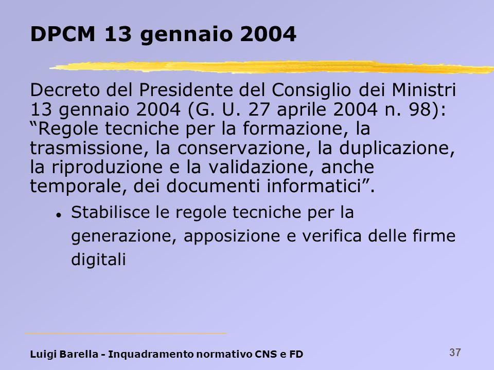 DPCM 13 gennaio 2004