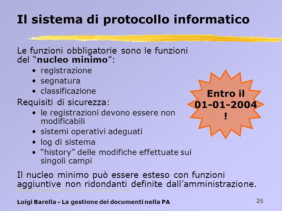 Il sistema di protocollo informatico
