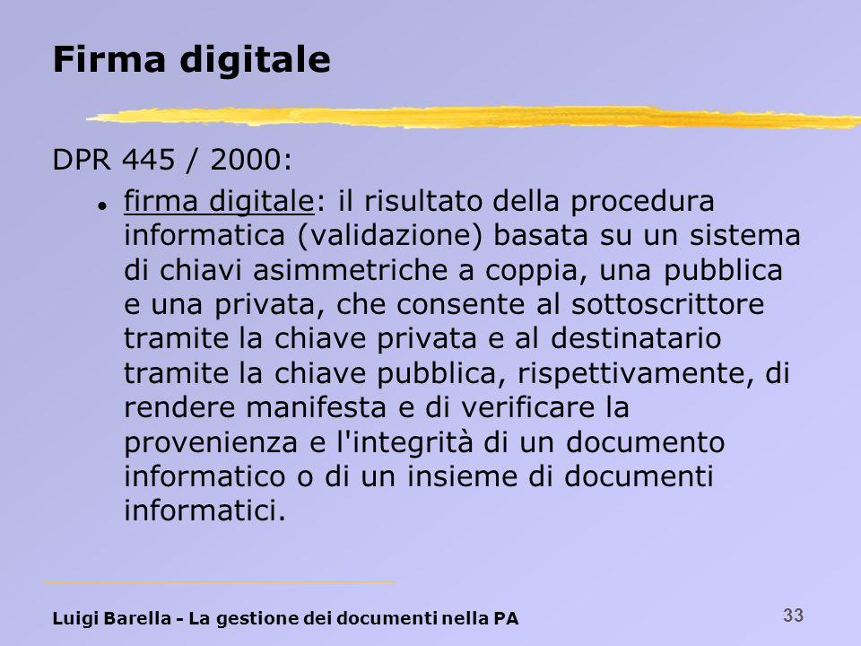 Firma digitale DPR 445 / 2000: