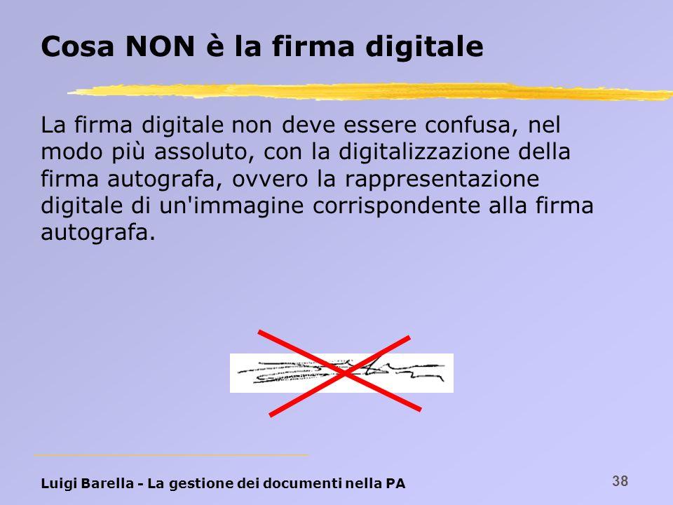 Cosa NON è la firma digitale