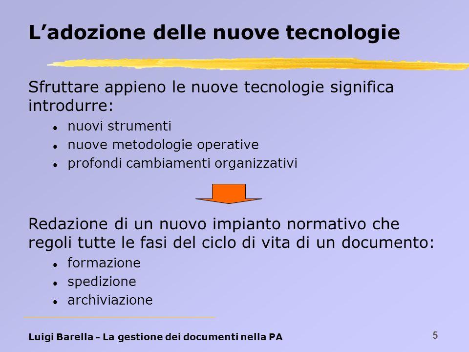 L'adozione delle nuove tecnologie